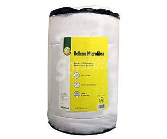 Productos Económicos Alcampo Relleno nórdico de microfibra color blanco para cama de 105 centímetros, densidad de 250 gramos/m² 1 unidad