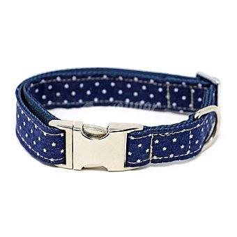 Biozoo Axis Collar para perros azul con estrellas medidas 2,5x46-55 cm 1 unidad