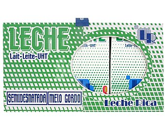 L.R. Leche Semidesnatada Pack 6 Unidades de 1 Litro