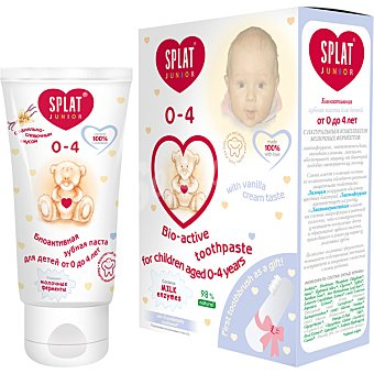 SPLAT Junior Pasta dentífrica Bio-active de 0 a 4 años Tubo 55 ml