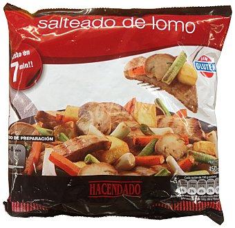Hacendado Salteado lomo (lomo, patatas, ajos tiernos, zanahoria, champiñon Y cebolla )congelado Paquete 450 g
