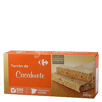 Carrefour Turrón blando de cacahuete 200 g