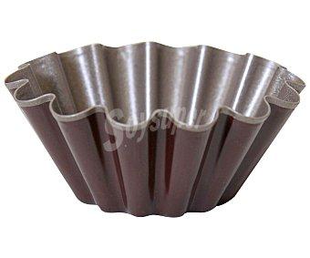 Auchan Molde redondo y rizado para frioche, fabricado en metal antiadherente, 10 centímetros de diámetro 1 Unidad