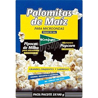 El Corte Inglés Palomitas con sal Pack 3 unds. 100 g