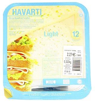 Hacendado Queso barra lonchas havarti light (envase azul) Paquete 300 g