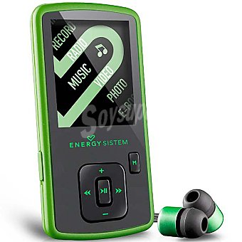 "ENERGY SISTEM Slim 3 Reproductor de MP4 de 8 GB con pantalla 1,8"" en color verde"