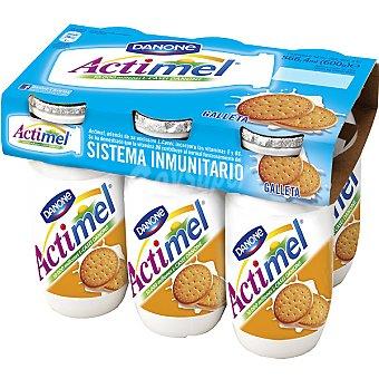 Actimel Danone Yogur liquido actimel galleta Botellin pack 6 x 100 g - 600 g