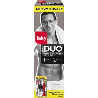 Taky Duo hombre crema depilatoria + hidratante con menta + te verde Tubo 200 ml