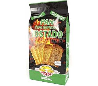Paybo pan tostado integral sin sal y sin azúcar paquete 260 g