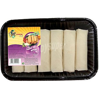 Fanya Rollitos dos delicias jamón y queso Bandeja 6 unidades