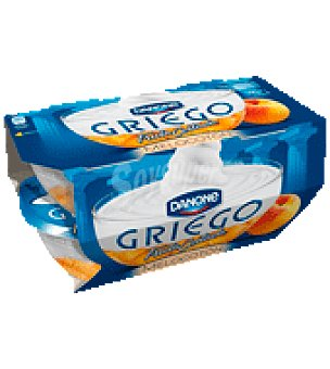 Griego Danone Yogur Griego melocotón c/fruta cortada Pack de 4x125 g
