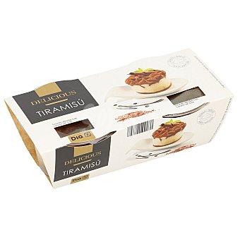 DIA Delicious Tiramisú pack 2 unidades 90 gr pack 2 unidades 90 gr