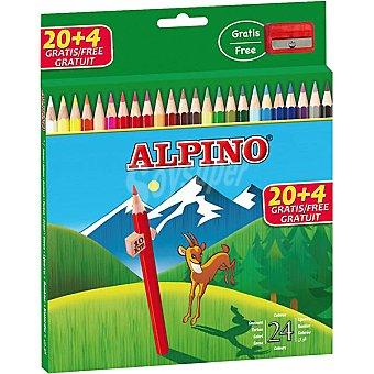 ALPINO Lápices de colores 24 unidades