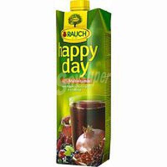 Happyday Zumo de multivitamina-frutos rojos 100 % Brik 1 litro