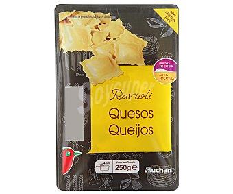 Auchan Ravioli rellenos de 4 quesos (pasta fresca al huevo) 250 gramos