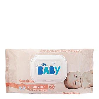 Carrefour Baby Toallitas para bebé con tapa sensitive 72 ud