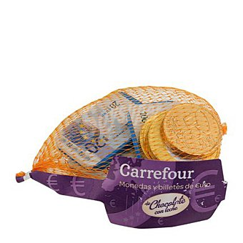 Carrefour Monedas y billetes de chocolate 80 g