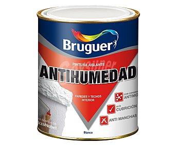 BRUGUER Pintura impermeable antihumedad de color blanco y acabado mate 0,75 litros