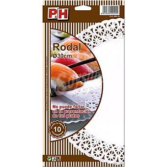 P & H Rodal blanco 30 cm Estuche 10 unidades