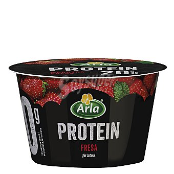 Arla Yogur con queso fresco batido (quark), sin lactosa y con sabor a fresa y bálsamo de limón protein 200 g