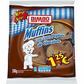 Bimbo Muffins con pepitas de cacao 4 unid