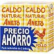 Caldo natural de pollo pack ahorro 2 envases de 1 litro Aneto