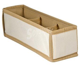 Home Caja organizadora de tela con 3 compartimentos, 23x10x9 centímetros 1 unidad