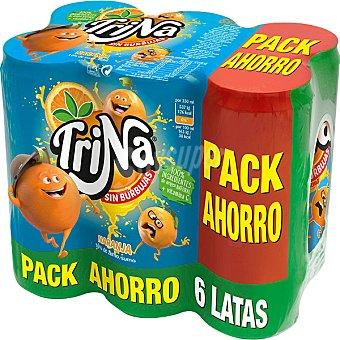 Trina Naranja sin burbujas pack ahorro 6 latas de 33 cl