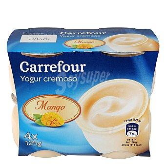Carrefour Yogur cremoso de mango Pack 4x125 g