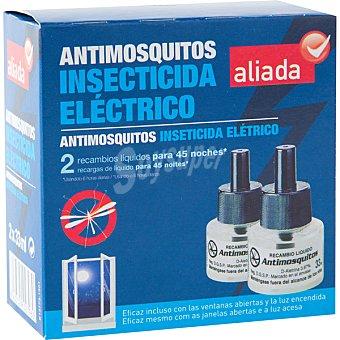 Aliada Insecticida volador eléctrico antimosquitos recambio 2 unidades