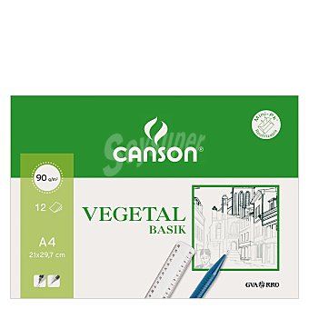 Canson Papel Dibujo Minipack Vegetal A4 10 ud
