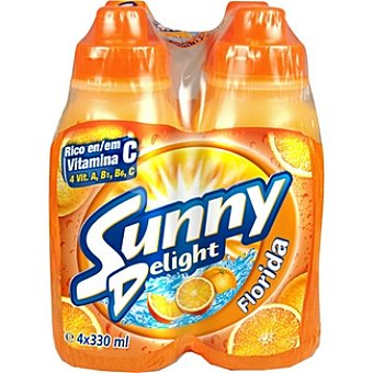 Sunny Delight Refresco multifrutas con tapón sport Pack 4 botellas 330 ml