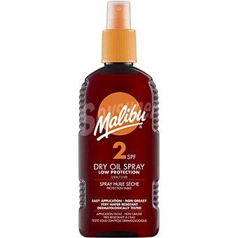 MALIBU Aceite protector solar seco FP-2 spray de 200 ml