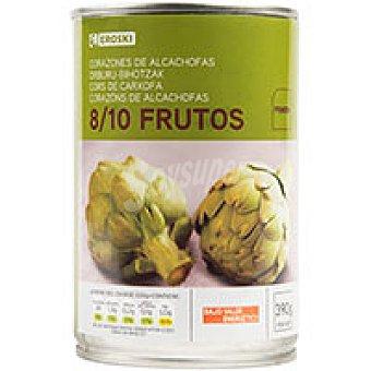 Eroski Alcachofa natural 8/10 piezas Lata 240 g