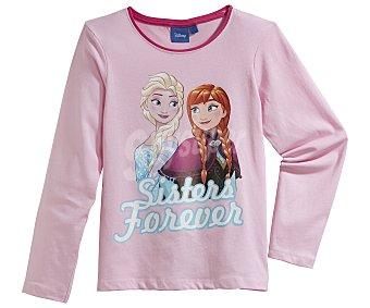 Disney Pijama largo para niña FROZEN, color rosa, talla 4