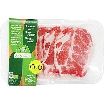 ECO-AVINYO Filetes de aguja fresca de cerdo ecologico peso aproximado Bandeja 300 g