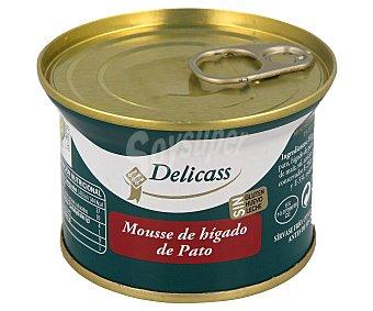 Delicass Mousse de higado de pato y pollo, sin gluten, sin huevo y sin leche 130 g