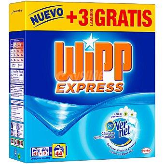 Wipp Express Detergente en polvo frescor vernel Maleta 41 cacitos