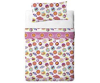 Disney Juego de sábanas con 3 piezas 50% algodón para cama de 90 centímetros, diseño Soy Luna 1 unidad