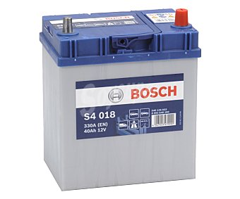 Bosch Batería de coche 40Ah, arranque 330A, 12V, L: 18,7cm, A: 14cm, H: 22,7cm 180 S40 180
