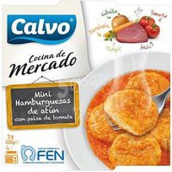 CALVO Miniburger de Atún con tomate 220 g