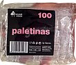 Paletina café desechable plástico transparente 100 u Bosque Verde