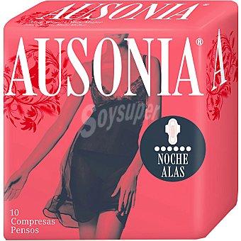 Ausonia Compresa ultra con alas noche Bolsa 10 unidades