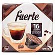 Cafe capsula (compatible cafetera dolce gusto*(marca de grupo societe des produits nestle, S.A. no relacionada con cocatech, s.l.)) fuerte Paquete 16 u Cocatech