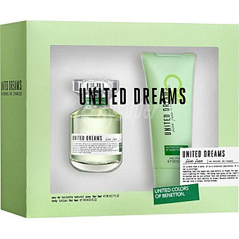 BENETTON Live Free eau de toilette natural femenina + body lotion tubo 100 ml spray 80 ml
