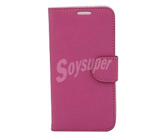 Auchan Funda con tapa para Samsung Galaxy S5 Mini Folio Fucsia,