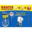 Insecticida volador eléctrico líquido antimosquitos comunes y tigre sin olor aparato + recambio  Raid