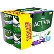 Bífidus natural 0% M.G pack 12 unidades 120 gr  Activia Danone