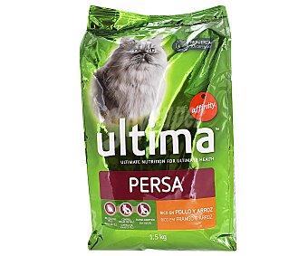 Ultima Affinity Comida especial para gatos persa con pollo y arroz 1,5kg