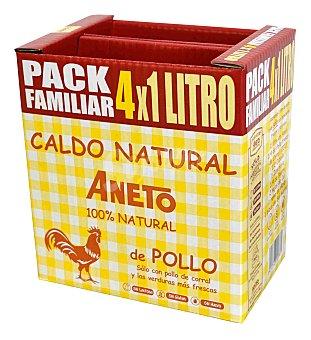 Aneto Caldo natural de pollo Pack 4 x 1 l